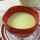 Crema de elote y chile poblano