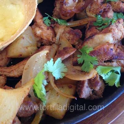 Fajitas de pollo mexicanas