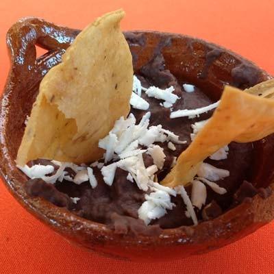 Frijoles refritos a la mexicana