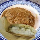 Tamales y mole verde