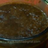 Salsa borracha  con chile ancho