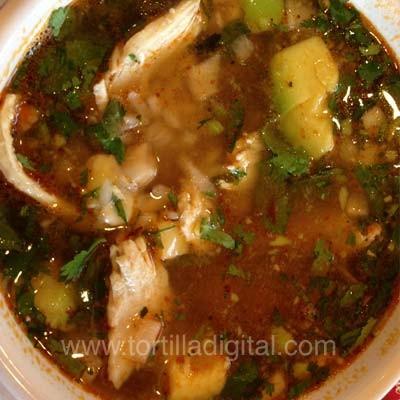 Sopa tarasca tradicional